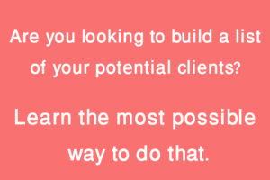 Ways to building list of potential clients